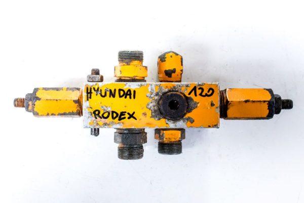 Kostka Hyundai 120 Rodex zawór rozdzielacz hydrauliczny
